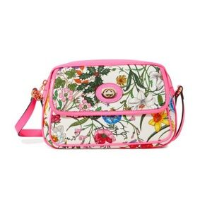 NWT! Gucci Flora Small Crossbody Bag In Pink!